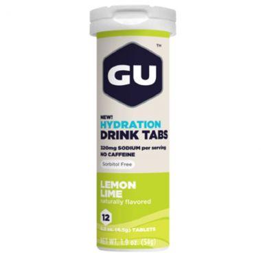 GU Hydration Drink Tabs - Limão (12 pastilhas)