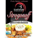 Refeição LioFoods Strogonoff de Carne, Arroz e Purê de Batatas